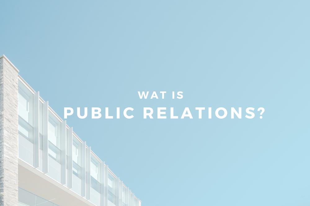 Wat is public relations?