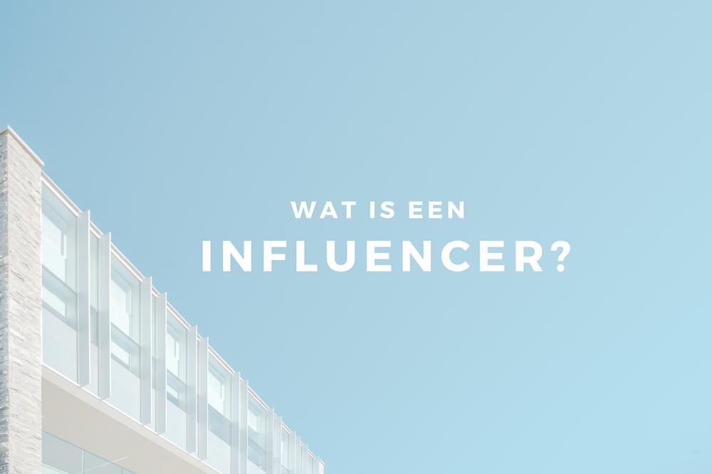 wat is een influencer