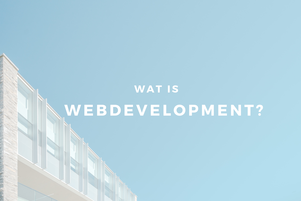 wat is webdevelopment