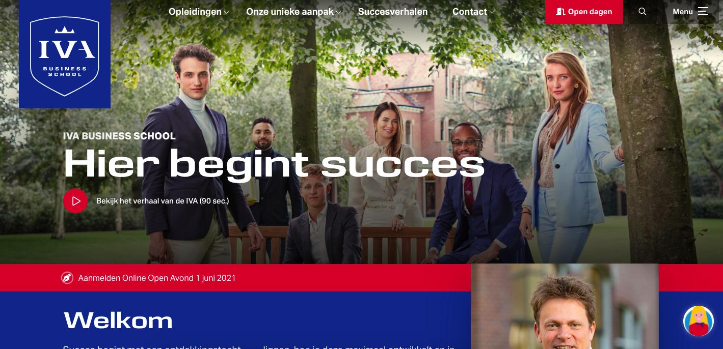 IVA Business School website