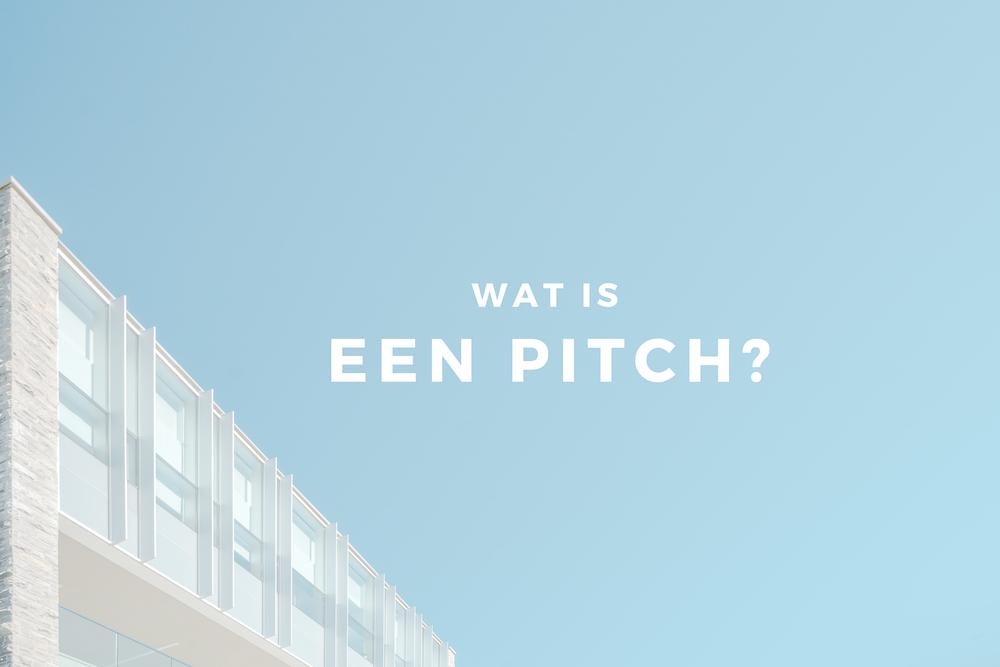 wat is een pitch